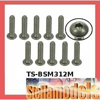 TS-BSM312M M3 x 12 Titanium Button Head Hex Socket - Machine (10 Pcs)