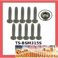 TS-BSM315S M3 x 15 Titanium Button Head Hex Socket - Self Tapping (10 Pcs)