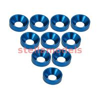 3RAC-WC3/BU Aluminium M3 Countersink Washer (10 Pcs) - Blue