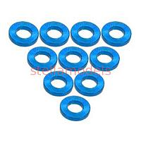 3RAC-WF310/LB Aluminium M3 Flat Washer 1.0mm (10 Pcs) - Light Blue