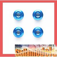 42143 4mm Aluminum Serrated Wheel Nut *4/Blue
