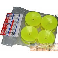 49421 TAMIYA Fluorescent Yellow Med-Narrow Dish Wheels