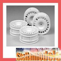 51021 Rally Dish Wheels 4pcs. (White, 26mm/+2)
