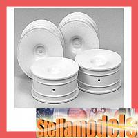 53473 Medium-Narrow White Dish Wheels (Offset+2)
