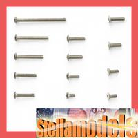 84126 TRF201 Titanium Screw Set