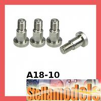 A18-10 64 Titanium King Pin Set For RC18
