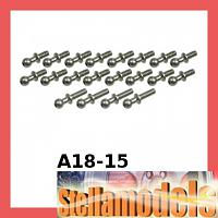 A18-15 64 Titanium Ball Stud (20 pcs) For RC18