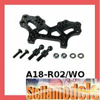 A18-R02/WO Rear Graphite Shock Tower For RC18-R