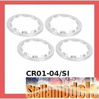 CR01-04/SI Aluminum Beadlock Ring (Silver) - CR-01