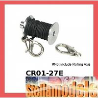 CR01-27E Replacement Crawler Winch Hooks w/ Traction rope for CR01-27