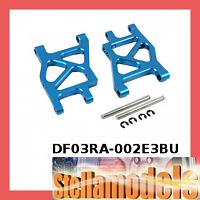 #DF03RA-002E3BU Aluminum Rear Lower Arm 2.5 Deg Toe In 251mm (BU) For Tamiya DF03-RA