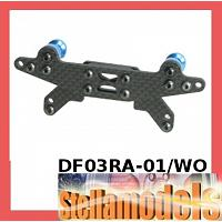 DF03RA-01/WO Rear Graphite Shock Tower For DF-03RA Chassis