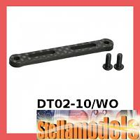DT02-10/WO Graphite Front Shock Tower Stiffener for Tamiya DT-02