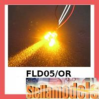 3RAC-FLD05/OR 5MM Flash LED LIGHT SET - ORANGE COLOR FOR LED SYS