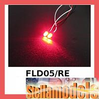 3RAC-FLD05/RE 5mm Flash LED Light - Red