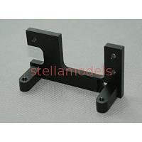 Aluminum Steering Servo Stay (Black) for Tamiya 1/14 Tractor Trucks [LESU]