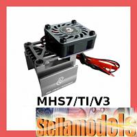 3RAC-MHS7/TI/V3 Extended Motor Heat Sink W/High Speed Fan For 540 Motor (High Finger) - Titanium Color