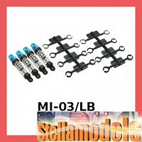 MI-03/LB Aluminum Oil Damper Set For Losi Micro-T