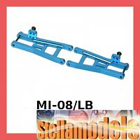 MI-08/LB Alum. Rear Suspension Arms For Losi Micro-T