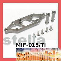 #MIF-015/TI Alum Rear Chassis Brace Stiffener For MINI INFERNO - Titanium Color