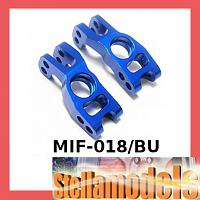 MIF-018/BU Alum Rear Hub Carrier (1 pr) For MINI INFERNO Blue