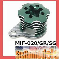 MIF-020/GR/SG Alum ESC Engine Heatsink For MINI INFERNO Green/SSG