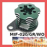 MIF-020/GR/WO Alum ESC Engine Heatsink For MINI INFERNO Green/Woven