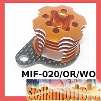 MIF-020/OR/WO Alum ESC Engine Heatsink For MINI INFERNO Orange/Woven