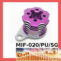 MIF-020/PU/SG Alum ESC Engine Heatsink For MINI INFERNO Purple/SSG