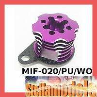 MIF-020/PU/WO Alum ESC Engine Heatsink For MINI INFERNO Purple/Woven