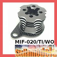 MIF-020/TI/WO Alum ESC Engine Heatsink For MINI INFERNO Titanium Color /Woven