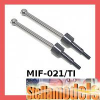 MIF-021/TI Front Swing Shaft (1 pr) For MINI INFERNO - (Titanium Color)