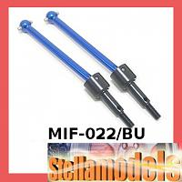 MIF-022/BU Rear Swing Shaft (1 pr) For MINI INFERNO BLUE