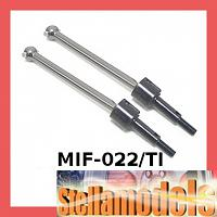 MIF-022/TI Rear Swing Shaft (1 pr) For MINI INFERNO Titanium color