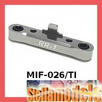 #MIF-026/TI Rear Susp Holder (1 Degrees) For MINI INFERNO (Titanium color)