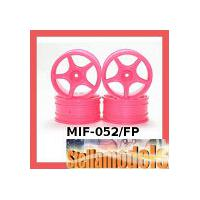 MIF-052/FP Plastic 5 Spoke Wheel For MINI INFERNO Fluorescent Pink