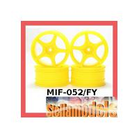 MIF-052/FY Plastic 5 Spoke Wheel For MINI INFERNO Fluorescent Yellow