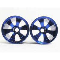 MZM-001A/B 6 Dual Spoke Rim /4pcs (Blue) For Mini-Z Monster