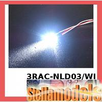3RAC-NLD03/WI 3mm Normal LED Light - White
