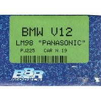 "1/43 BMW V12 LM98 ""Panasonic"" Car N.19 (PJ225)"