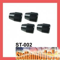 ST-002 Set Up Wheel 4mm Lock Nuts - 4pcs
