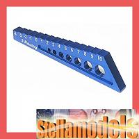 ST-004/BU Chassis Droop Gauge -4 to 10mm Blue