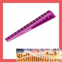 ST-005/PK Chassis Ride Height Gauge 0-15 (Bevel) Pink