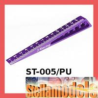 ST-005/PU Chassis Ride Height Gauge 0-15 (Bevel) Purple