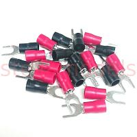 Crimp spade terminal SV2-4 (Black & Red, 10Pcs. each.)