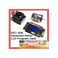 Team Powers Set - XPS EL ESC V1.2 40A + Cup Racer Sensored Brushless Motor 21.5T + LCD Program Card