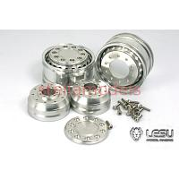 Aluminum Front Wheels (Wide, Hex Hub, 1Pr., Pattern B) for 1/14 R/C Tractor Trucks (W-2042-B) [LESU]