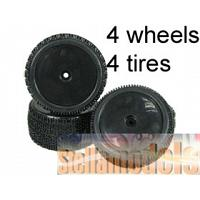 WH-20/BL 1/10 Tyre and Rim Set - Dish Type For Tamiya DB01 (4pcs)