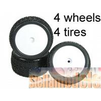 WH-20/WI 1/10 Tyre and Rim Set - Dish Type For Tamiya DB01 (4pcs)
