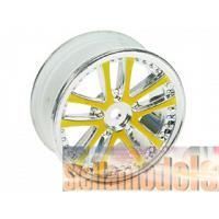 #WH-02/GO 1/10 5 DUAL SPOKE RIM (0º, 24mm) GOLD 4PCS